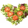 Salad heart - Stock Photo