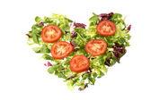 Salad heart — Stock Photo