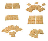 Collection of crackers arragements — Stock Photo