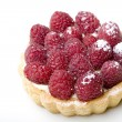 Delicious dessert fresh raspberry fruit - Stock Photo