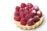 Delicious dessert fresh raspberry fruit — Stock Photo