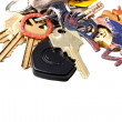 Royalty-Free Stock Photo: Home and office keys on key chain
