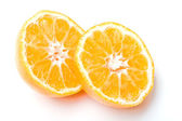 Fresh juicy clementine citrus fruit cut — Stock Photo
