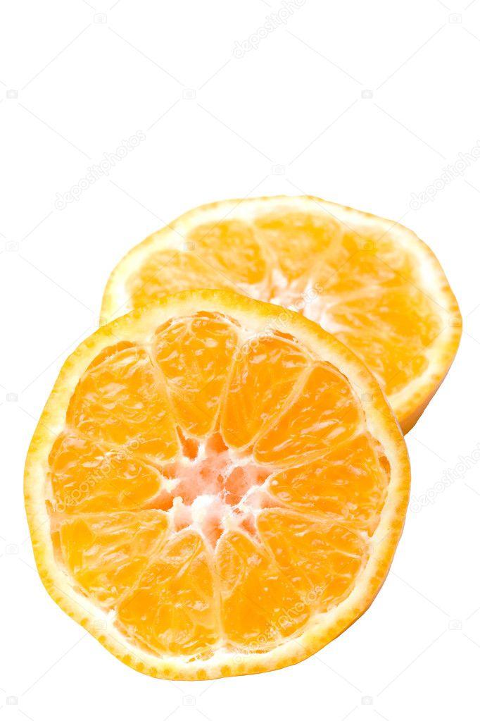 Fruit Cut In Half Clementine citrus fruit cut in