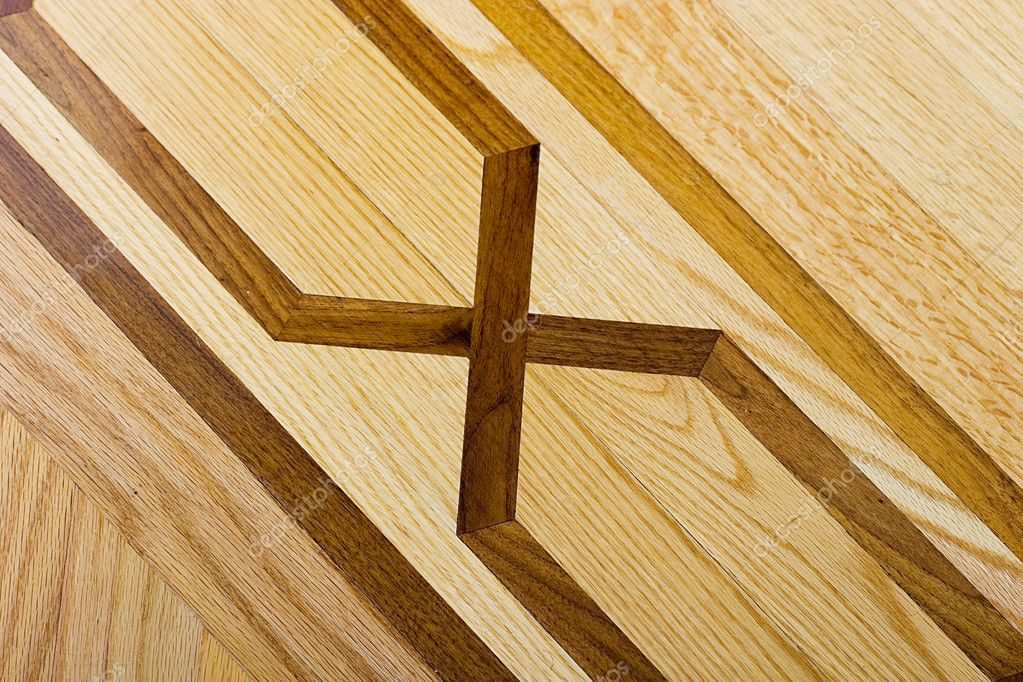 Parquet wooden floor diagonal pattern background  — Stock Photo #2410264