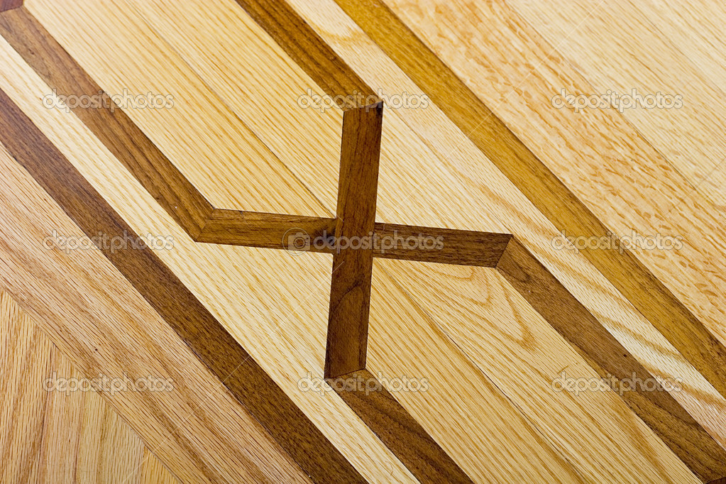 Parquet wooden floor diagonal pattern background  — Stockfoto #2410264