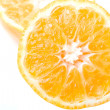 Stock Photo: Fresh juicy clementine citrus fruit cut