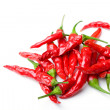 Red spicy hot chili peppers isolated - Stock Photo