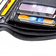 Stock Photo: Black leather wallet with credit cards