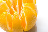Fresh juicy ripe orange fruit sliced — Stock Photo