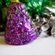 The purple bell Christmas ornament — Stock Photo #2497236