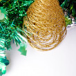 Stock Photo: Golden Christmas tree decoration