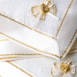 Stock Photo: Beautiful fabric napkins table decor