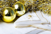 Christmas New Year decoration ornaments — Stock Photo