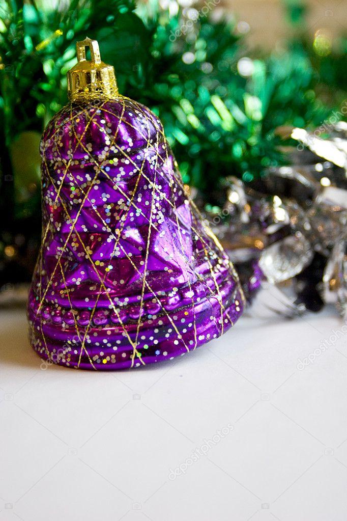 紫色铃铛圣诞节装饰品