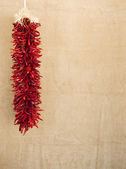 Red chile ristras — Stock Photo