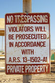 No Trespassing Sign — Stock Photo