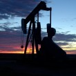 Oil well at Sunrise — Stock Photo