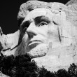 Stock Photo: Abraham Lincoln on Mount Rushmore