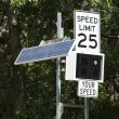 Stock Photo: Speed sign