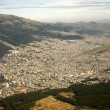 Aerial view of Quito, Ecuador - Stock Photo