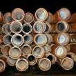 Stock Photo: Drill pipe