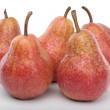 Bunch of Red pears over white — Stock Photo