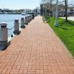 Long brick walkway — Stock Photo #2347437