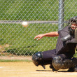 Stock Photo: Baseball catcher