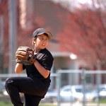 Baseball pitcher focus — Stock Photo #2349346