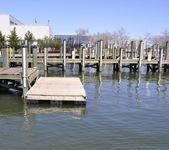 Wood dock — Stock Photo