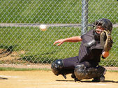 Baseball catcher — Stock Photo