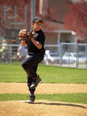 Little league pitcher — Stock Photo