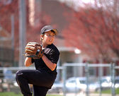 Baseball pitcher focus — Stockfoto
