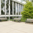 Stock Photo: Three empty benches