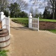 Main gate at Mount Vernon - Stock Photo