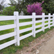 White wood fence — Stock Photo