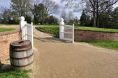 Main gate at Mount Vernon — Stock Photo