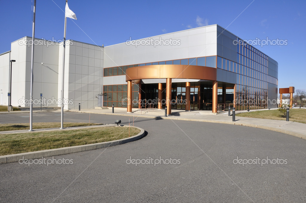 Exterior of a modern industrial building — Stock Photo #2367687