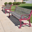 Stock Photo: Two empty outdoor benches