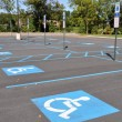 Stock Photo: Handicap parking spots