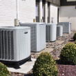 Several large air conditioning units - Stock Photo