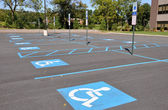 Handicap parking spots — Stockfoto