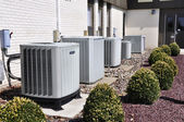 Several large air conditioning units — Foto Stock