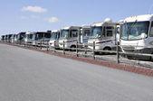 Many recreation vehicles — Stock Photo