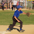 Stock Photo: Little league baseball first baseman