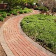 Stock Photo: Winding brick path in garden