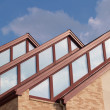Stock Photo: Three roof peaks