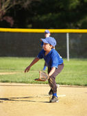 Kleine league baseball spieler — Stockfoto