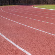 Lanes on an outdoor running track — Stock Photo
